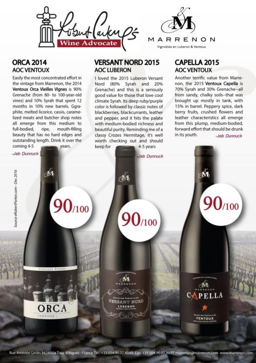 Les notes de Robert Parker / Wine Advocate